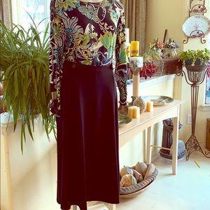 NWT ❤️Christopher & Banks Black Knit Skirt